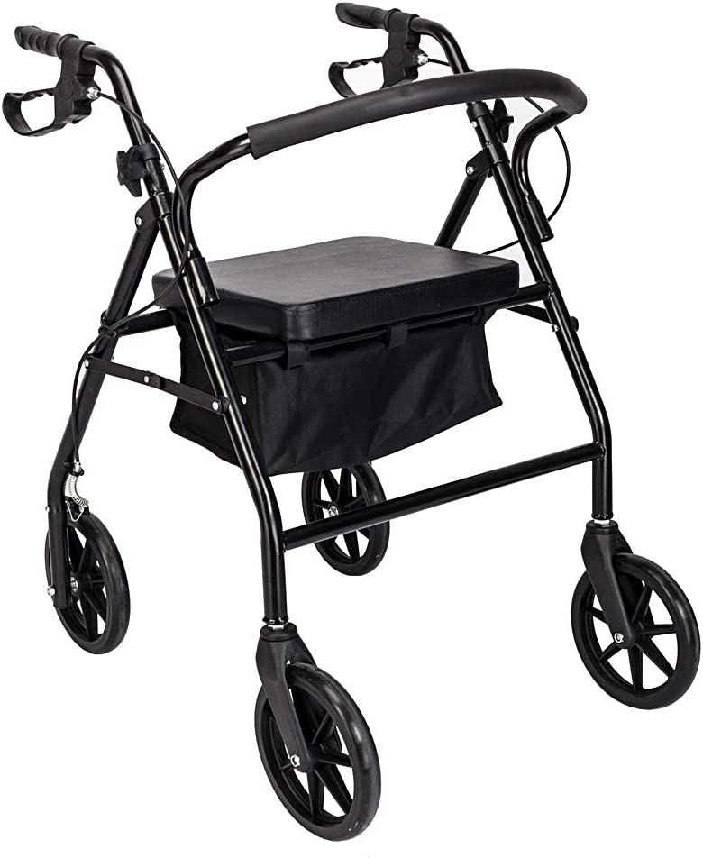 Iron Rollator Walker Reservation with online shop Wheels and an Seniors Backest for Seat