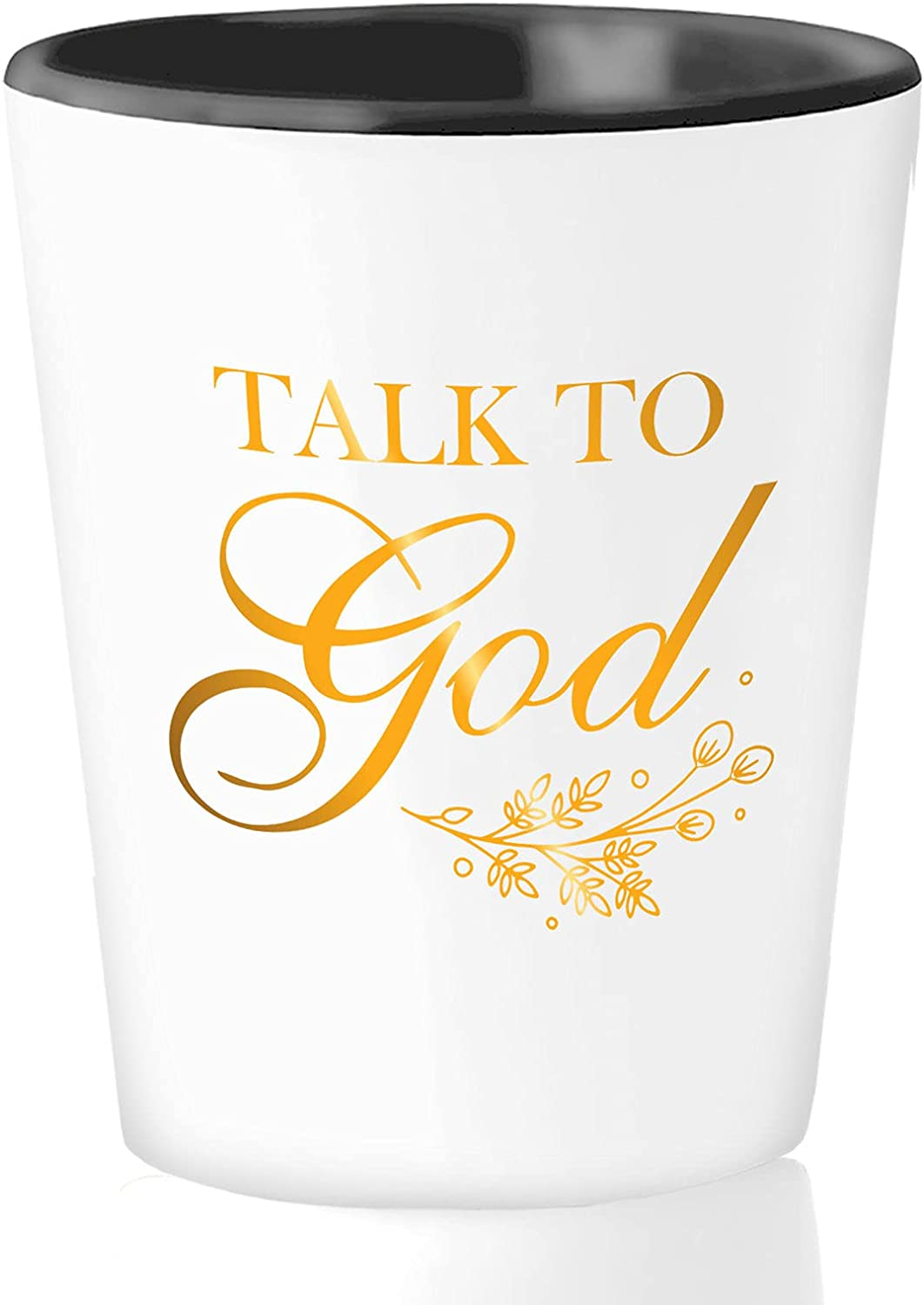 Christian Shot Glass Special sale item 1.5 Oz - God Vers Bible to sold out Talk Religious