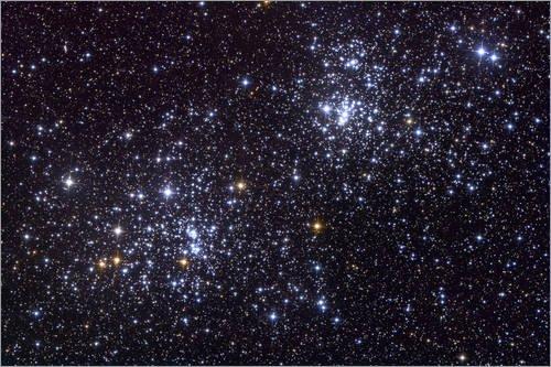 Acrylglasbild 100 x 70 cm: Sternhaufen im Sternbild Perseus von Roth Ritter/Stocktrek Images - Wandbild, Acryl Glasbild, Druck auf Acryl Glas Bild