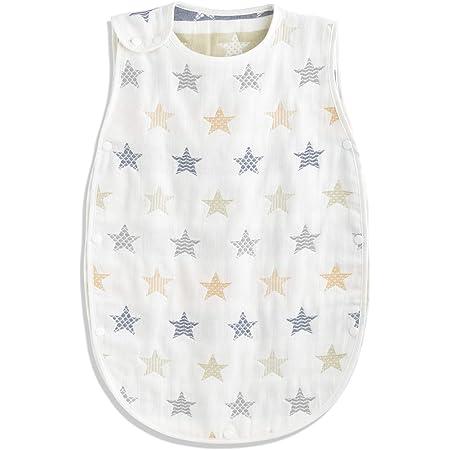 TWONE(トォネ)スリーパー ベビー 赤ちゃん 寝袋 6重ガーゼ (商標6247448)女の子 男の子 オーガニックコットン100% 柔らかく お昼寝 寝冷え防止 通気性 新生児~3歳まで 出産お祝い ギフト (Sサイズ(約35×58cm), 星柄・ホワイト)