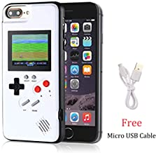 Gameboy Case for iPhone 6/6S/7/8, Chu9 Retro 3D Playable Gameboy Cover Case with 36 Classic Games, Handheld Color Screen Video Game Console Case for iPhone (White, iPhone 6/6S/7/8)