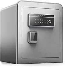 QQW Fingerprint Safe Electronic Steel Security,with Keyboard,Protect Money,Jewelry,Passport-Suitable for Family,Business O...