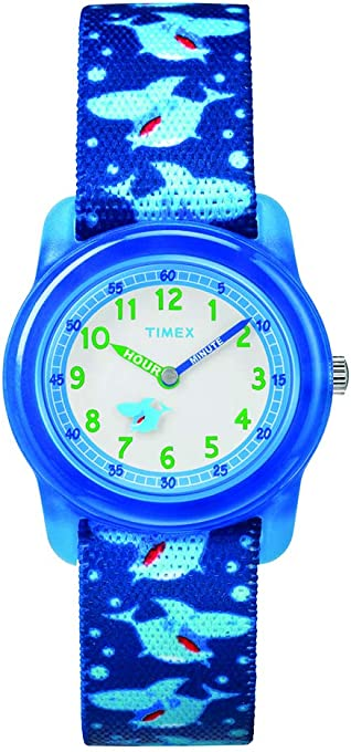 Timex Boys' TW7C13500 Year-Round Analog Quartz Blue Watch