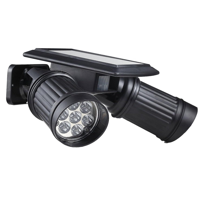 センサーライト JPCHSO ソーラーライト 屋外 1.4W×2灯 LEDソーラーセンサーライト 360角度調整可 ソーラー 屋外 エクステリア 照明 防犯グッズ 防犯ライト ledライト センサー led 人感センサー ライト 屋外照明/軒先/駐車場/庭先/玄関周りなど対応 夜間自動点灯 災害時の備えに