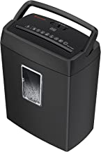Shredder for Home, 6-Sheet Cross-Cut Paper Shredder with Portable Handle Design, Small Paper Shredder with 3.4 Gallons Was...