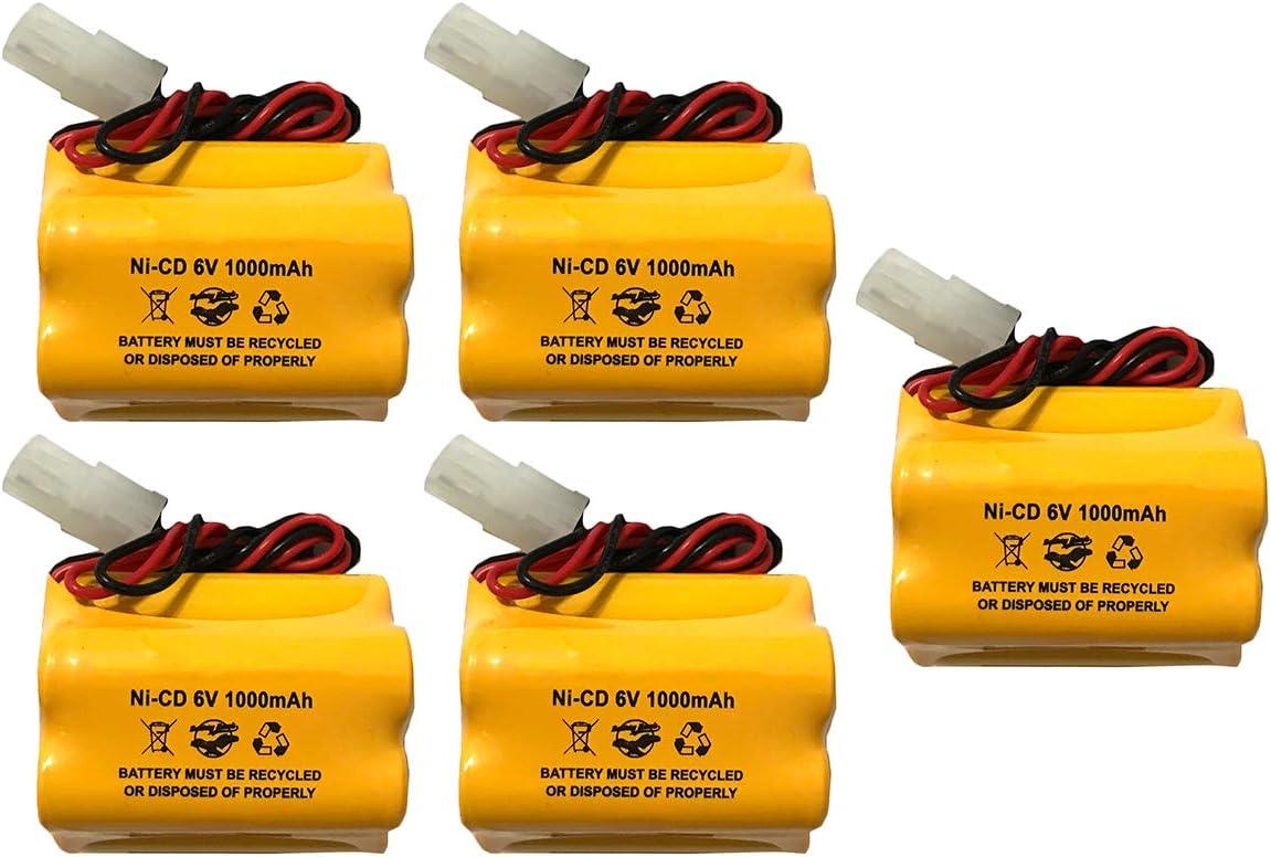 5 Pack 6v 1000mAh Ni-CD Aritech Battery Weekly update 10050 Replacement Sacramento Mall