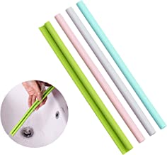 Evron Reusable Straws Openable & Washable Silicone Straws Easy to Clean BPA Free Food Grade Drinking Straw Cold and Hot Co...