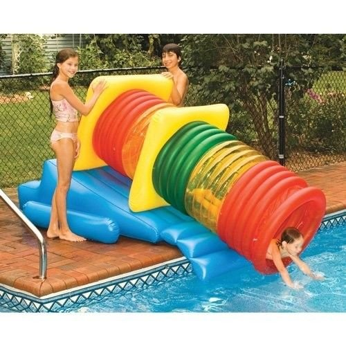 New Shop Water Slide Tube Pool Park Fun Tubing Inflatable Float Diving Toy Fun Games
