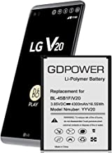 LG V20 Battery, GDPower 4300mAh High Capacity 0 Cycle Battery BL-44E1F Replacement for LG V20 H910 AT&T, H918 T-Mobile, VS995 Verizon, US996 US.Cellular, LS997 Sprint,V20 Spare Battery-3 Year Warranty