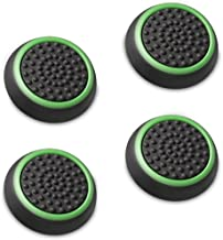 Fosmon [Set of 4] Analog Stick Joystick Controller Performance Thumb Grips for PS4 | PS3 | Xbox One | Xbox 360 | Wii U (Black & Green)