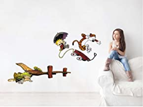 Rawpockets 'Calvin and Hobbes Story' Wall Sticker (PVC Vinyl, 1 cm x 65 cm x 135 cm)