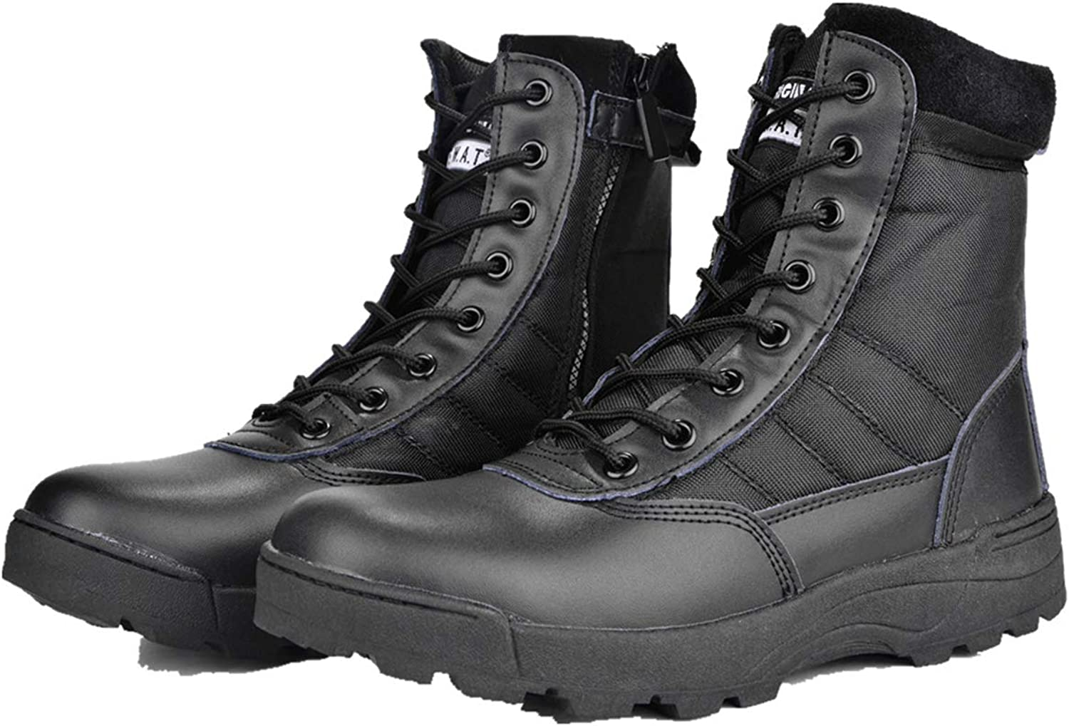 Combat Boots G-13 Leather Side Zip Army Tactical Boots Delta Military Work Army shoes Safety Ankle Boots Breathable Commando Outdoor Desert Tactical Military Patrol Boots