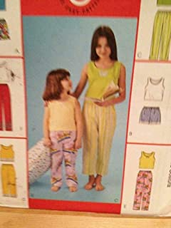 McCalls Sewing Pattern 4096 Girls Childs Top Pants Shorts Size 3-6 Uncut