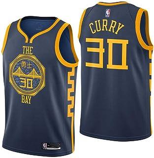 SumPo Camisetas de Baloncesto para Hombre Stephen Curry # 30 Jersey De Baloncesto para Hombre NBA Jersey De Tela Bordada Golden State Warriors New Jersey (Tamaño: S-XXL)