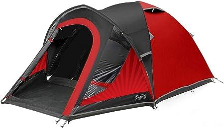 Coleman Blackout Tent, 3/4 personen, 3/4 man tent, iglotent, festivaltent,  lichte koepeltent met voortent, gepatenteerde nachtzwarte slaapcabine,  waterdicht WS 4.500 mm : Amazon.nl: Sport & outdoor