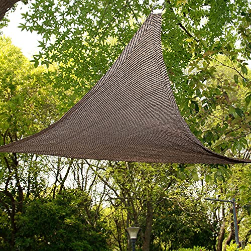 DATOU Exterior Vela De Sombra Solar Toldo De Bloque UV Impermeable Poliéster PES Resistente A La Intemperie para Patio Jardín Patio Trasero,Marrón(Size: 2x2x2m/78.7x78.7x78.7in)