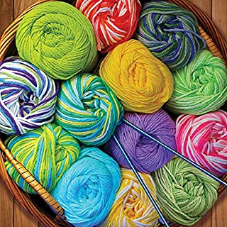 Springbok's 500 Piece Jigsaw Puzzle Colorful Yarn