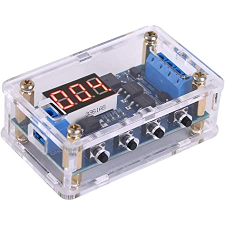 12V LED-Anzeige Einstellbares Automatisierungs-Steuerschaltermodul f/ür Timer-Relais zur Steuerung von Magnetventilen und Wasserpumpen Digitales Timer-Relais