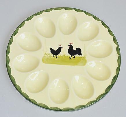 Preisvergleich für Zeller Keramik Eierteller Hahn und Henne