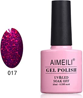 AIMEILI Soak Off UV LED Gel Nail Polish - Roby Sparkle (017) 10ml
