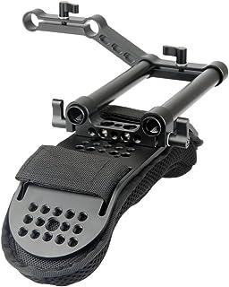 [Update Version] NICEYRIG Cámara de vídeo videocámara Hombro Pad con Carril y Varillas de aleación de Aluminio para DSLR Rig Sistema de Apoyo de Hombro