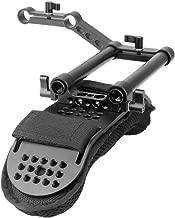 NICEYRIG Shoulder Pad with Rail Raiser /15mm Rods for Shoulder Rig System Video Camera DSLR Camcorders