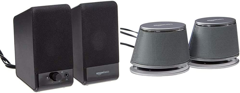 AmazonBasics Computer Speakers for Desktop Laptop Outlet ☆ Free Shipping Deluxe PC USB-Po or