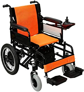 RDJM De Peso Ligero Plegable sillas de Ruedas eléctrica Silla de Ruedas, minusválidos en Silla de Ruedas eléctrica de Edad Avanzada, de Aluminio Plegable portátil Vespa, de Carga 100Kg / 12a