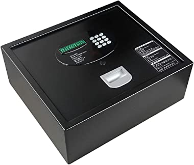 Top Opening Safe INVIE Keypad Security Drawer Safe with Key Electronic Digital Safe Box for Home, Office, Hotel