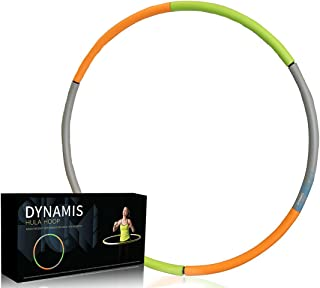 Vandora Dynamis Weighted Hula Hoop - Heavy Fitness Hoop - 3lbs - Weight Loss Workout Equipment - Customizable, Easy to Use Exercise Hoop - Fun, Easy Way to Workout - Dance, Twist, Stretch, Sweat