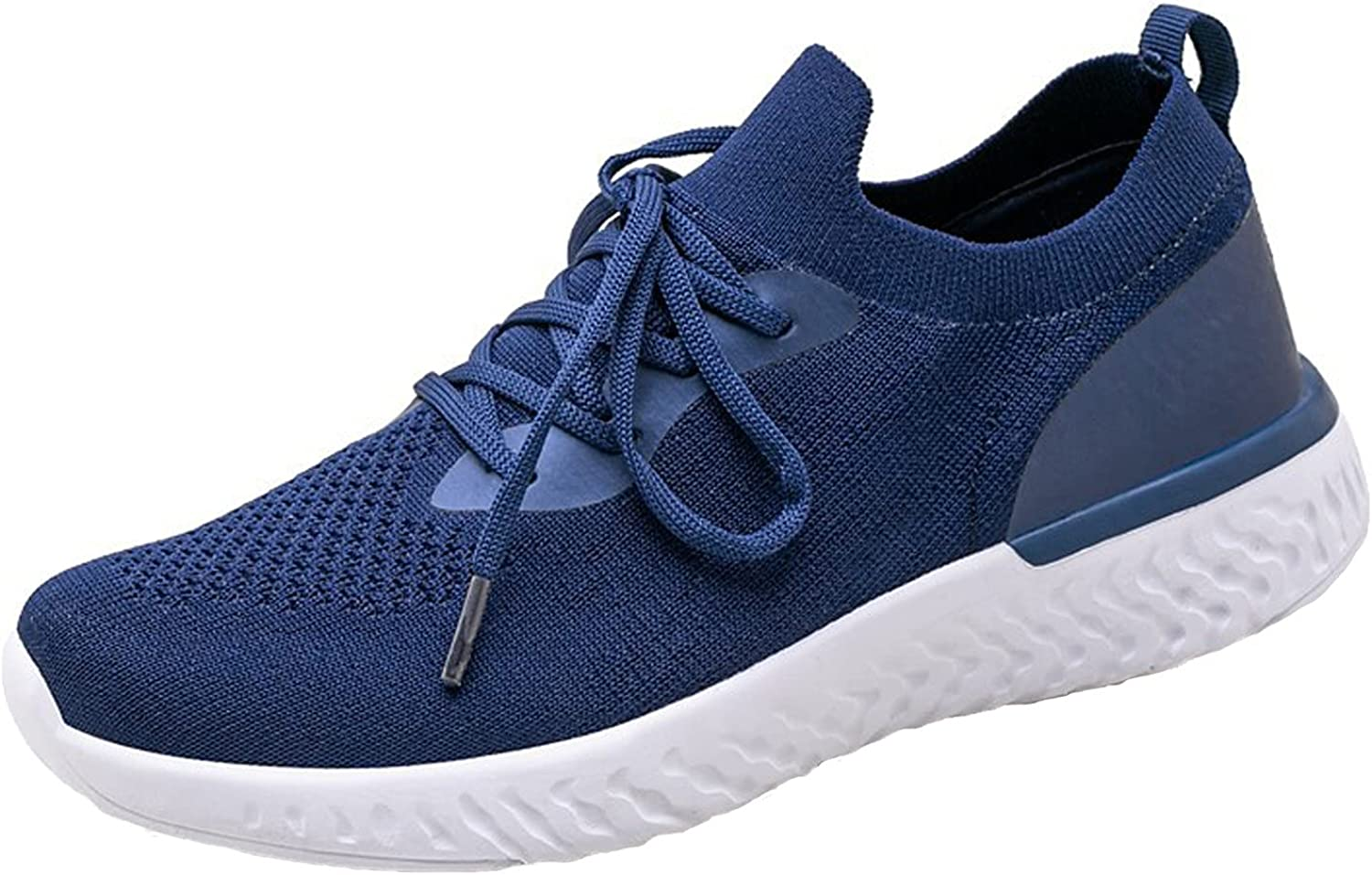Autumn New Unisex Fashion Casual Shoes Women'S Outdoor Solid Color Lace Up Working Thick Bottom Walking Sneakers Mesh Breathable No-Slip Lightweight Running Sports Shoes