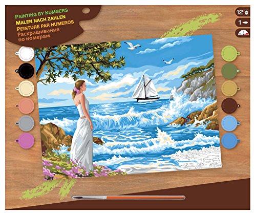 L'Art et la Manière Peinture au numéro motif Appel de la mer 30 x 40 cm Couleurs Assorties