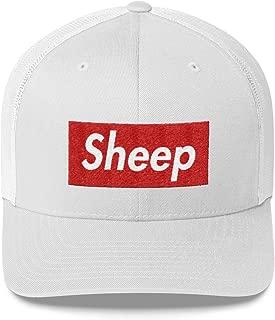 Sheep Squad Hat (Supreme Box Logo Style) Trucker Cap
