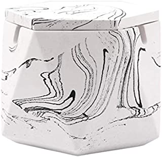 JIAJBG Cenicero, Decoraciones Arte Artesanía Cenicero High Cemento con Tapa Home Sala de Estar para la Decoración de la Of...