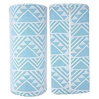 【バレンタインデーカーニバル】ホームビューティーサロン用の長いネイルアートパッドソフトネイルアートハンド枕のために変形していません(Blue geometry)