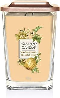Yankee Candle Elevation Kollektion, große quadratische Duftkerze mit 2Dochten und Plattformdeckel, Tonka Bean & Pumpkin