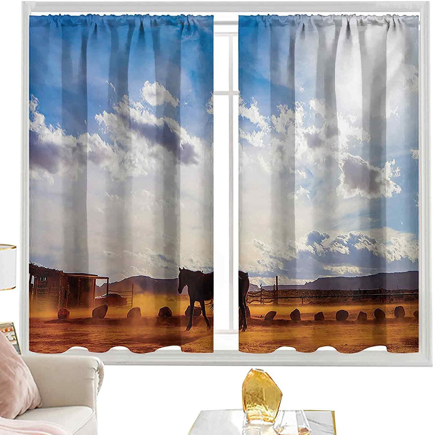 Bedroom Curtains Horse Tampa Mall in Monument Valley with Open Clouds Max 73% OFF Sky