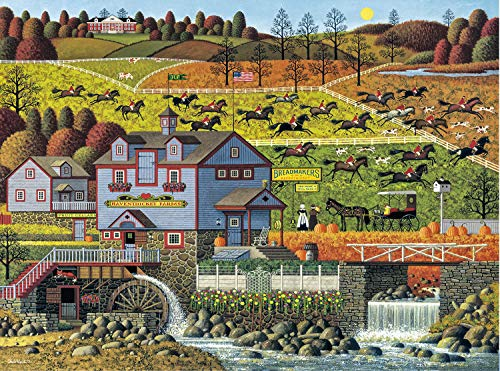 Buffalo Games - Charles Wysocki - Foxy Fox Outfoxes The Fox Hunters - 1000 Piece Jigsaw Puzzle