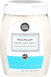 Whole Foods Market, Premium Dead Sea Salt Unscented Coarse Grain, 5 Pound