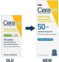 CeraVe Sunscreen Face SPF 50, 2 oz, Old Formula (Discontinued)