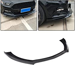 JC SPORTLINE fits for Ford Mustang Coupe Convertible 2-Door 2015-2017 ABS Front Bumper Lip Spoiler Protector (Non GT350) (Gloss Black)