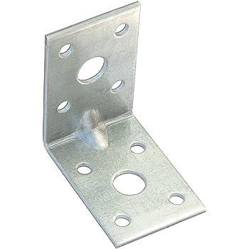 60x Winkelverbinder Schwerlast Lochwinkel Winkel 50x50x35mm Bauwinkel