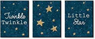 Big Dot of Happiness Twinkle Twinkle Little Star - Baby Boy Nursery Wall Art and Kids Room Decorations - Christmas Gift Ideas - 7.5 x 10 inches - Set of 3 Prints