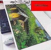 マウスパッド永遠の900X400mmマウスパッド、スピードゲームマウスパッド拡張XXL大型マウスマット、厚さ3mmのベースノートブックPC D