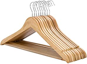 Yaheetech 60 Pack Wooden Clothes Hangers Coat Suit Garment Trousers
