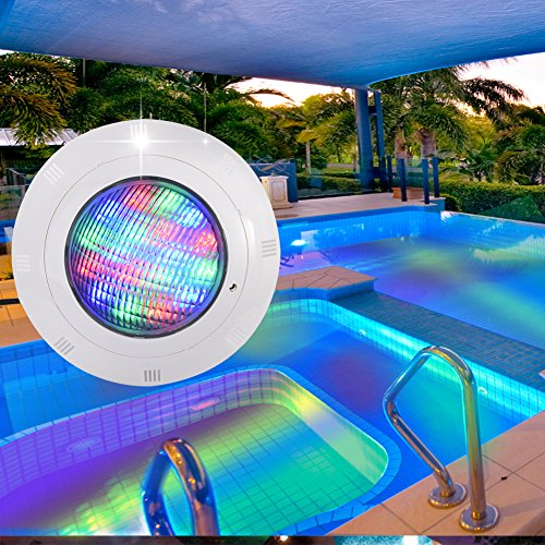 Luces de estanque impermeables, 19 LED Piscina Luz de discoteca RGB su