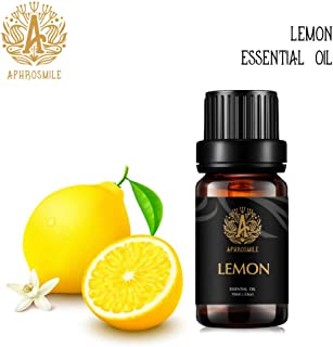 Aromatherapy Essential Oil Lemon, 100% Pure & Therapeutic Grade Lemon Essential Oils Scent, 10ml Lemon Aromatherapy Essential Oils Fragrance Oil for Diffuser, Humidifier, Massage, Skin & Hair Care