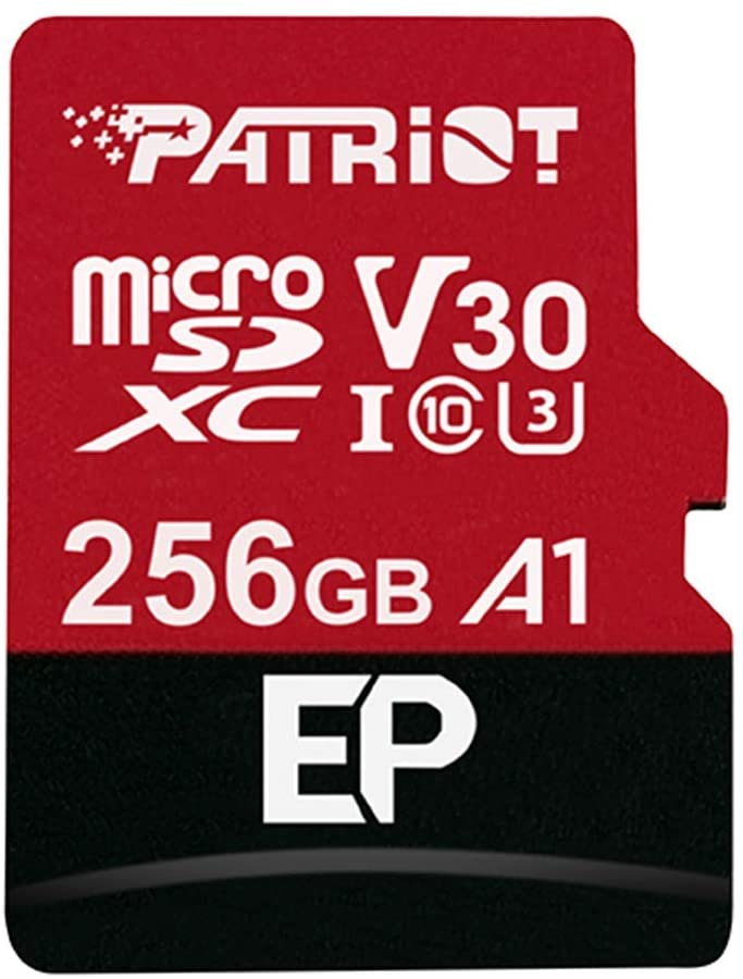 Patriot 256GB A1 / V30 Micro SD Card for Android Phones and Tablets, 4K Video Recording - PEF256GEP31MCX