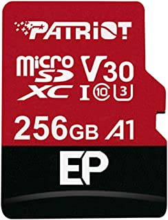 Patriot EP A1 microSD Card SDXC 256GB for Android Phones and Tablets, 4K Video Recording PEF256GEP31MCX