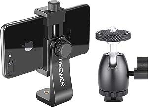 Neewer Cellphone Holder Clip Desktop Tripod Mount with Mini Ball Head Hot Shoe Adapter for...